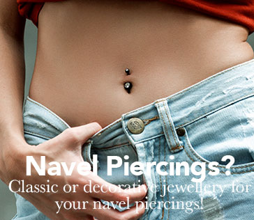 Woman with jeans and navel piercing