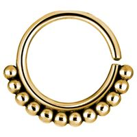 Bright Gold PVD Beaded Annealed Ring image