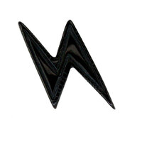Acrylic Ear Studs: Lightning Bolts Black image