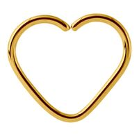 Bright Gold Annealed Heart Continuous Ring image
