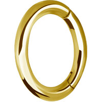 Bright Gold Oval Hinged Rook Ring image