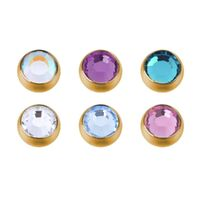 Bright Gold Screw-on Jewelled Balls image