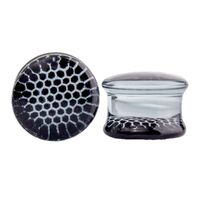 Pyrex Glass Plug with Black Honeycomb image
