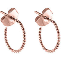 PVD Rose Gold Braided Sleeper Style Ear Stud : Pair image