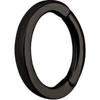 Black Steel Oval Hinged Rook Ring image