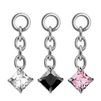 Steel Prong Set Square Swarovski image