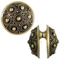 Ornate Brass Ear Weight Hanger : 23 grams image