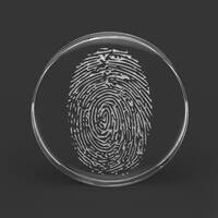 Custom Laser Engraved Clear Acrylic Plug - 'Fingerprint' image