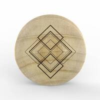 Custom Laser Engraved Crocodile Wood Plug - 'Geometric 04' image