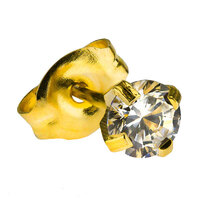 Gold Plate CZ : White image