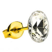 Gold Plate Crystal Zircon : Oval image