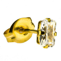 Gold Plate Crystal Zircon : Emerald Cut image