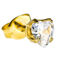 Gold Plate Crystal Zircon : Heart image