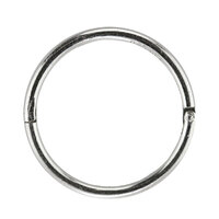 1/2 Smooth Hinged Hoop : White Stainless image