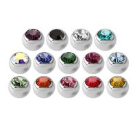 Steel Basicline® Faceted Jewelled Clip-in Ball image