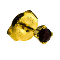 24ct Gold Plate Clawset Birthstone Regular : Garnet image