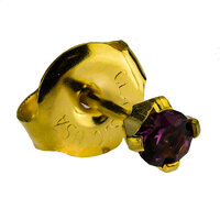 24ct Gold Plate Clawset Birthstone Regular : Amethyst image