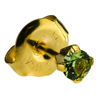 24ct Gold Plate Clawset Birthstone Regular : Peridot image