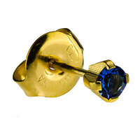24ct Gold Plate Clawset Birthstone Regular : Sapphire image