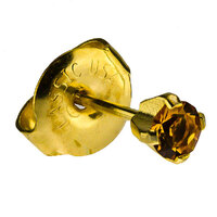 24ct Gold Plate Clawset Birthstone Regular : Topaz image