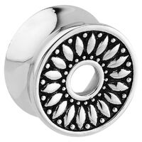 Steel Double Flared Sunflower Tunnel Plug image