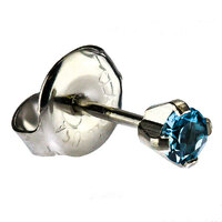 White Stainless Cubic Zirconia Regular : Aquamarine image