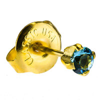 24ct Gold Plate Clawset Cubic Zirconia Regular : Aquamarine image
