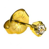 24ct Gold Plate Clawset Cubic Zirconia Regular : White image