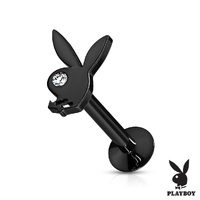 Playboy Bunny Steel Internally Threaded Jewelled Labret image