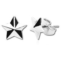 Pair of Surgical Steel Ear Studs - Nautical Star : Nautical Star image