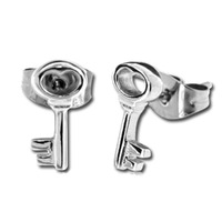 Pair of Surgical Steel Ear Studs - Key : Key image