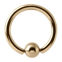 14ct Gold Ball Closure Ring image