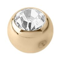 14ct Gold Clip In Jewelled Ball image