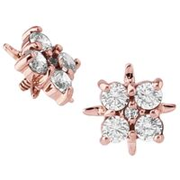 14k Rose Gold Internally Threaded Jewelled Cluster : 16g (M0.9) image