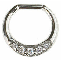 Surgical Steel Jewelled Septum Clicker image