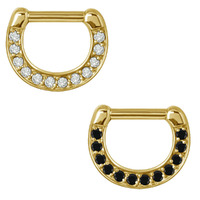 Bright Gold Septum Clicker image