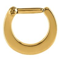 Plain Bright Gold Septum Clicker image