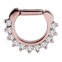 Rose Gold PVD Prong Set Hinged Segment Clicker image