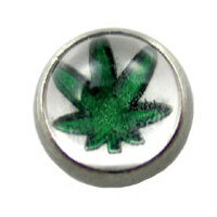 Screw On Picture Ball Hemp Green on White image