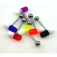 Acrylic Capsule Tongue Barbell image