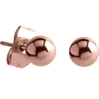 PVD Rose Gold Ball Ear Studs : Pair image