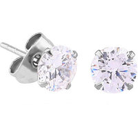 Surgical Steel Prong Set Round 2.5mm Jewelled Ear Studs : Pair image