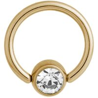 Titanium Zirconline® Flat Back Jewelled Ball Closure Ring image