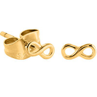 Bright Gold Infinity Ear Studs : Pair image