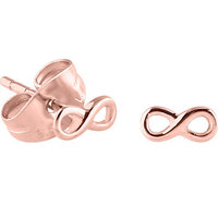PVD Rose Gold Infinity Ear Studs : Pair image