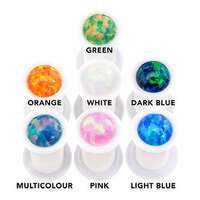Synthetic Opal White Acrylic Plugs image