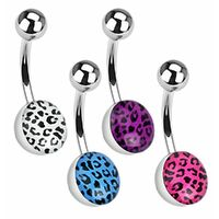 Surgical Steel Leopard Print Navel image