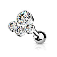 Steel Multi Disc Jewelled Barbell image