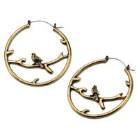 20g Bronze Perched Bird Plug Hoop image