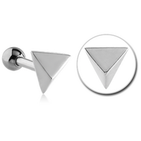 Surgical Steel Pyramid Tragus Barbell image